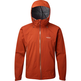 Rab Downpour Plus Jacket Men, firecracker